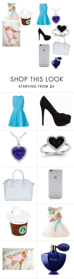 """""""me and my little sister"""" by princessjakie7 ❤ liked on Polyvore featuring Elizabeth and James, Nly Shoes, Kevin Jewelers, Givenchy, Native Union, GAMA-GO and Guerlain"""