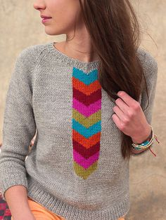 one sheepish girl: Sweaters to Wear / Sweaters to Knit. Inspiration for grey background with paper piecing.