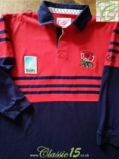 Official Cotton Traders England away long sleeve rugby shirt from the 1995 World Cup.