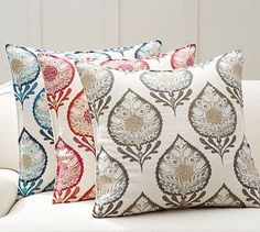 Anisha Appliqué Pillow Cover #potterybarn