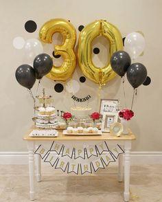 49 super ideas for birthday design simple Best Birthday Surprises, Surprise 30th Birthday, Hubby Birthday, 30th Party, Golden Birthday, 30th Birthday Parties, Anniversary Parties, Birthday Party Decorations, Birthday Celebration