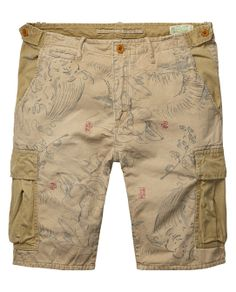 Allover printed relaxed slim fit cargo shortsAllover printed relaxed slim fit cargo shorts. Scotch and Soda