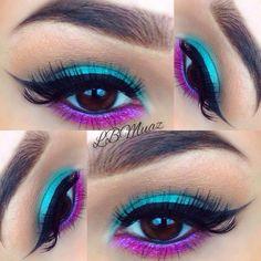 Vibrant blue and purple
