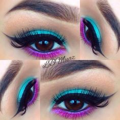 Vibrant blue and purple