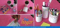 Lapiceros hechos en casa.  Para que tus hijos mantengan ordenados todos sus lápices y colores crea unos lapiceros hechos y decorados con materiales sencillos, seguro les encantarán. En Walmart SIEMPRE encuentras TODO y pagas menos.