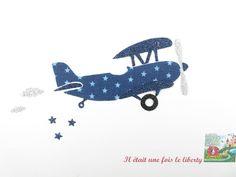 Tête dans les nuages avions hélicoptères rouge 100/% tissu de coton tissu liberté