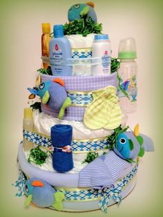 Fish Themed Diaper Cakes   Google Search