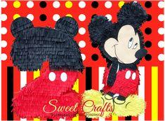 Piñatas Mickey Num 2 #DiseñosManualesYGraficos #SweetCraftsOax #TuLoImaginasNosotrosLoCreamos