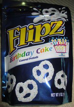 FOODSTUFF FINDS: Flipz Birthday Cake Covered Pretzels
