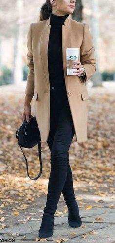 45 Best and Stylish Business Casual Work Outfit for Women fashion # fashion Style Désinvolte Chic, Style Noir, Style Casual, Mode Style, Casual Chic, Trendy Style, Casual Work Outfits, Winter Outfits Women, Winter Outfits For Work