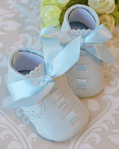 Sevva Elliot Boys Baby Blue Christening Shoes