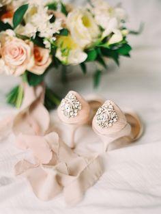 Seaside Wedding at Sunset Cliffs (Style Me Pretty) Bridal Heels, Blush Bridal, White Bridal, Seaside Wedding, Mod Wedding, Wedding Blog, Ballet Wedding, Wedding Ideas, Wedding Boudoir