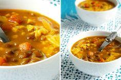 Чечевичный суп с беконом и чеддером