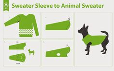 Barters Closet Blog : 4 Steps to turn a Sweater Sleeve into an Animal Sweater