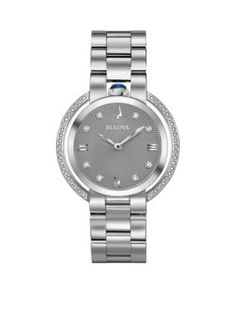 Bulova Women's Women's Silver-Tone Rubaiyat Watch - Silver - One Size