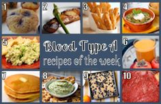 Blood Type A Recipes based on eating right for your blood type