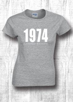 69fd5527 41th birthday gift t shirts 1974 shirts 41th by FourSeasonsTshirt Diy Birthday  Shirt, 25th Birthday