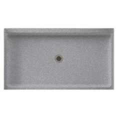 Swanstone 34 in. x 60 in. Single Threshold Shower Floor in Gray Granite-SF03460MD.042 at The Home Depot
