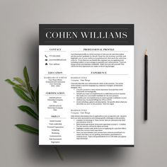Microsoft Word Resume Templates For Mac Professional Resume Template  $1500  100% Customizable And Easy