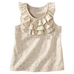 Cherokee® Infant Toddler Girls Sleeveless Ruffle Tank - For next summer