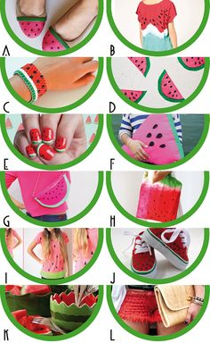 The best watermelon DIY Los mejores DIY de sandía http://idoproyect.com/blog/watermelon-yes-please-sandia-si-por-favor/