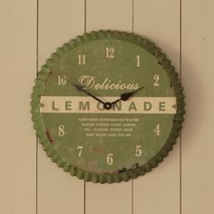 Turn a rustic old pie tin into a really kool wall clock.......D.