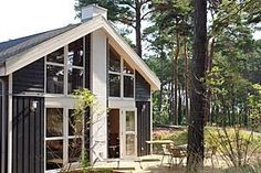 Ferienhaus Ostseeblick in Baabe - Hausansicht - Terassenseite