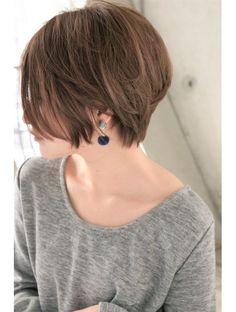 メルバイピュール(mer by PUUR) 前髪長めのナチュラル大人ショート