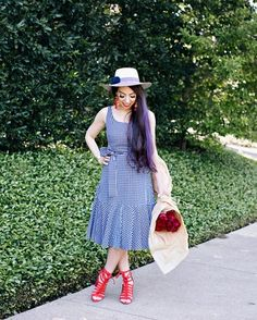 Going gaga for #gingham all over again, especially with this flounce detail! Are dresses your favorite? I love wearing them (and tassel earrings)! http://liketk.it/2sdXn#liketkit @liketoknow.it #LTKunder100 #LTKstyletip #LTKshoecrush