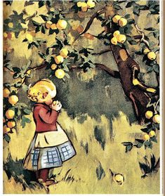 Kirjeitä myllyltäni: Martta Wendelin Apple Art, Pretty Drawings, Fairytale Art, Illustrations And Posters, Children's Book Illustration, Christmas Art, Beautiful Paintings, Landscape Art, Vintage Art