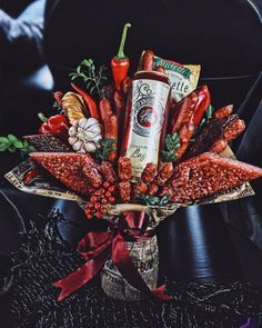 Food Bouquet, Gift Bouquet, Candy Bouquet, Fruit Gifts, Food Gifts, Diy Gifts, Vegetable Bouquet, Edible Bouquets, Gift Wraping