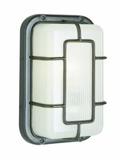 Trans Globe Lighting 41101 SAL 10-Inch 1-Light Outdoor Bulkhead, Satin Aluminum « zPatioFurniture.com