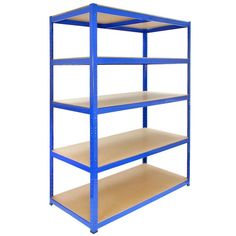 Monster Racking T-Rax Garage Shelving Unit Extra Wide - 5 Tier Heavy Duty Rack for Storage Steel Utility Shelves Shed Shelving, Garage Shelving Units, Utility Shelves, Storage Shelves, Storage Units, Rack Shelf, Storage Ideas, Storage Sheds For Sale, Garage Storage Solutions