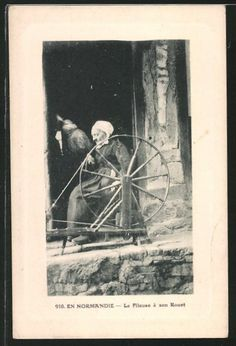 In Normandy, France, The spinner and her wheel