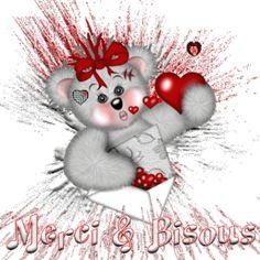 Gifs Merci (371) Merci Gif, Les Gifs, Happy Friendship Day, Gif Animé, Cute Bears, Teddy Bear, Manga, Christmas Ornaments, My Favorite Things