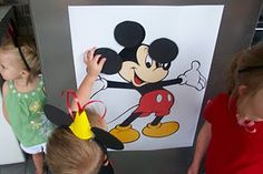 Game: Pin the Ears If Mady is still a Mickey lover at her birthday we are doing this!