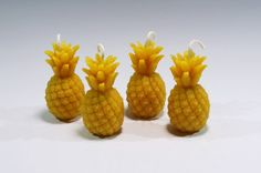 Beeswax Pineapple Votive 4 Candles Beeswax by GardenGateDesign