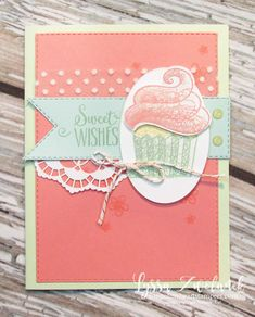 Hello cupcake SAB stampin up saleabration rubber stamps sale party birthday Happy Birthday Wishes, Card Birthday, Birthday Quotes, Birthday Images, Birthday Greetings, Birthday Ideas, Cupcake Card, Hand Stamped Cards, Handmade Birthday Cards