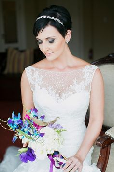Intimate Orchid Wedding: Illusion Lace Dress   SouthBound Bride   http://www.southboundbride.com/intimate-orchid-inspired-dullstroom-wedding-by-jack-and-jane-cindy-carsten   Credit: Jack & Jane Photography