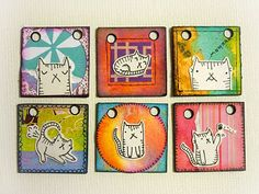 "Kitty Inchies for an 1"" book"