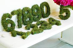 Moss Table Numbers Garden Party Wedding Bridal Shower Engagement. $8.00, via Etsy.