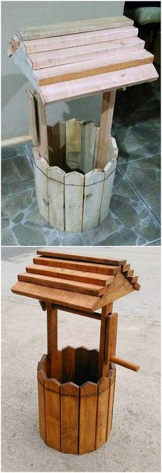 Recycled Pallet Wishing Well