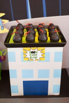 Boy's Superhero Milk Bar Party Dessert Ideas