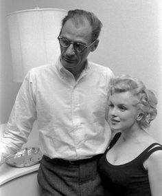 Arthur Miller and Marilyn Monroe photographed for Life magazine by Robert Kelley, May 1958