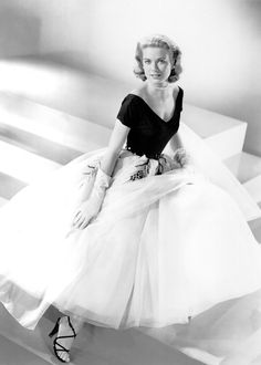 """Publicity Still of Princess Grace Kelly: 1954, as Lisa Carol Fremont in """"Rear Window,"""" wardrobe by Edith Head."""