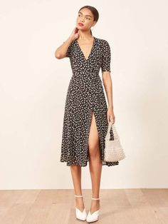 15 Spring Dresses You Can Wear For Any Occasion - Spring dresses come in many different styles and they're perfect for just about any occasion. You'll definitely wow the crowd with these amazing dresses. SEE DETAILS. Spring Dresses Casual, Summer Outfits, Summer Dresses, Fall Dresses, Dress Outfits, Fashion Dresses, Dress Up, Wrap Dress Outfit, Dress Hats