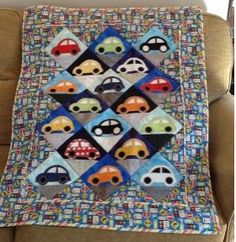 accuquiltGO! Cute Car Die was used to make this cute quilt! #kidsquilts #accuquilt  #cuttimequiltmore #quilting #sewing