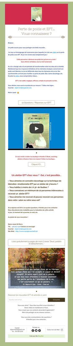 Perte de poids et EFT...Vous connaissez ?