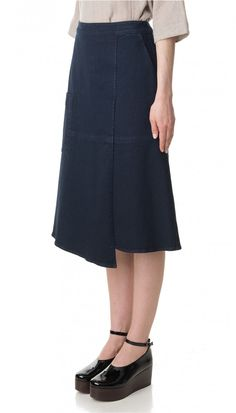 Denim Wrap Midi Skirt - On Duty - Off Duty Style - Features | Official Site