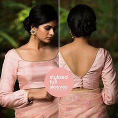 Designer blouses can really elevate a look, especially when it comes to designer blouse patterns back neck. These are the two major area. Blouse Back Neck Designs, Simple Blouse Designs, Stylish Blouse Design, Silk Saree Blouse Designs, Saree Blouse Patterns, Designer Blouse Patterns, Skirt Patterns, Coat Patterns, Design Of Blouse